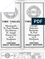 CGW Public Timetable Sep 01 1941