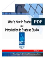 Whats New in Essbase 11 Essbase Studio - HUGmn Techday