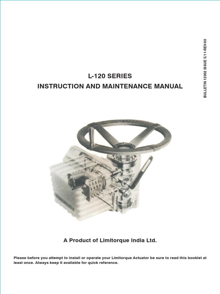 Limitorque Instruction and Maintenance L120   Clutch   Valve on john deere l120 electrical diagram, john deere 110 electrical diagram, l120 pto clutch wiring harness, l120 parts diagram, john deere ignition switch diagram, l120 engine diagram,