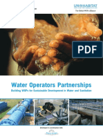 Water Operators Partnerships - Building WOPs for Sustainable Development in Water and Sanitation