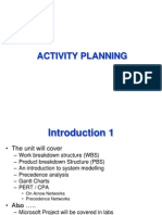 Activity Planning