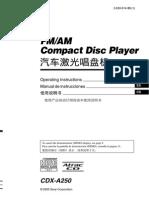 Data Manual Sony Cdxa250