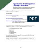 Preparation for Java Programmer Language Certification