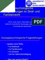 Aussagepsychologische Fragestellungen im Straf- und Familienrecht