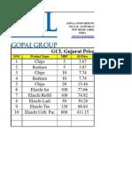 GCL Price List