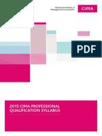 CIMA 2015 Professional Qualification Syllabus