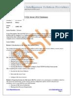 Microsoft SQL 2012 DBA