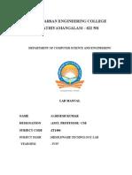 Files CSE Manual VII IT1404 - Middleware Technologies Laboratory.doc