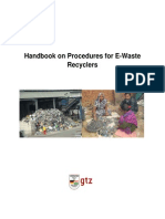 Handbook for Setting Up of an E-Waste Recycling Facility