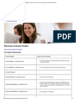 Philadelphia University _ Physician Assistant Studies Prerequisite Information