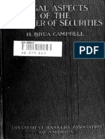 Legal Aspects of Transfer of Securities