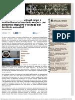 Movimiento Internacional Exige a Multimillonario Brasileño Respeto Por Derechos Mapuche y Retirada Del Territorio Ancestral