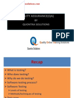 QA Online Training Tutorial by Quontra Solutionss