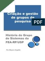 Criação e gestão de grupos de pesquisa