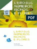 Livro Dos Numero Bichos e Flores
