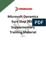 Microsoft Dynamics Sure Step Training