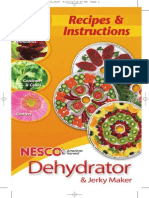 NESCO Dehydrator Manual