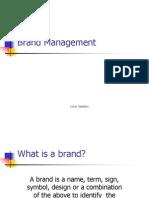 Basics of Brand Management