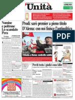 L'Unità prima pagina 2005 12 03