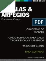 Libro de Escalas y Arpegios Guitarra - Nestor Crespo