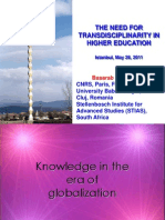 58283166 Basarab Nicolescu the NEED for TRANSDISCIPLINARITY in HIGHER EDUCATION Ppt File Keynote Speaker Talk at the International Higher Education Congres