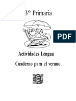 Cuedarno de Lengua Verano Veronica Paredes 3º Primaria