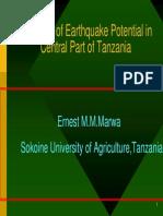 20 09 2005 Marwa Earthquake Potential Tanzania