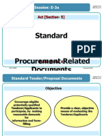 E-3a Standard Procurement Related Documents and Preparation