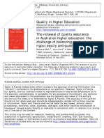 Shah, Lewis, & Fitzgerald, 2011, Challenge of Balancing Academic Rigour Equity and Quality Outcomes