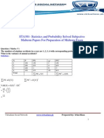 STA301- Statistics and Probability Solved 301
