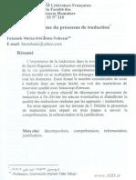 Le Mecanisme Du Processus Du Traducteur