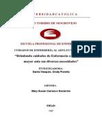 Proceso de Cuidado de Enfermería- Acv- Irc- Sepsis- Cindy Sarria