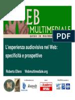 L'esperienza audiovisiva sul Web