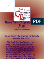 Cook County C4LThree Year Organizational Plan - 11-22-09
