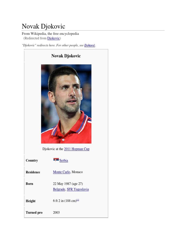 Novak Djokovic Roger Federer Tennis Players