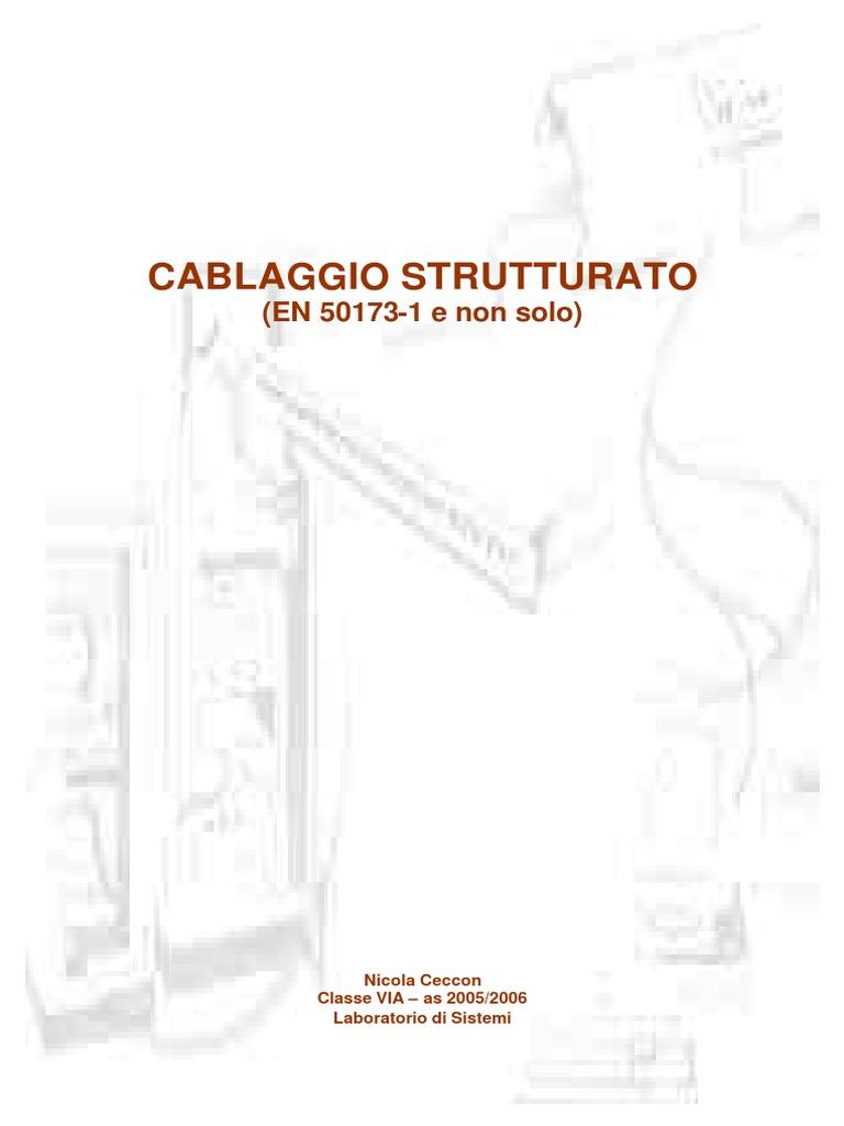 Schema Cablaggio Cavo Lan : Cablaggio strutturato pdf