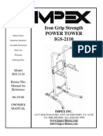 Iron Grip Strength Power Tower Manual