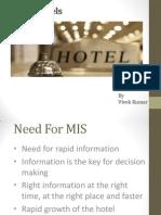 MIS in Hotels