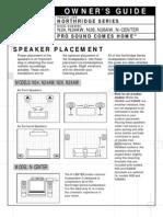 N26, N Center Speaker Manual