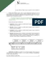 Actividad - Uso de Tabulaciones 2014-I