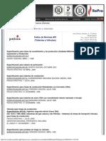 Índice de Normas API (Tuberías y Válvulas)