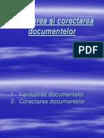 Prezentare - Verificarea Şi Corectarea Documentelor