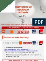 Baromètre BVA - Orange - L'Express - Presse Régionale - France Inter - Juin 2014