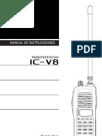 Manual Icom IC v8 Esp