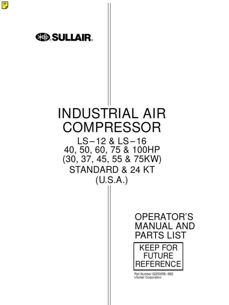 Ls 12 Sullair Manual Air Compressor | 2019 Ebook Library