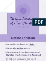 9 Attributes of a  True Christian