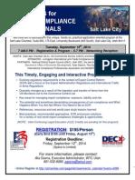 Salt Lake City Seminar Program Flyer