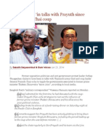 Suthep Claims 'in Talks With Prayuth Since 2010′ to Plot Thai Coup