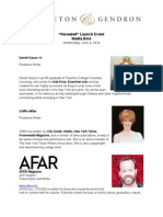 revealed attendees - media bios