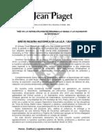Breve Reseña Histórica Jean Piaget